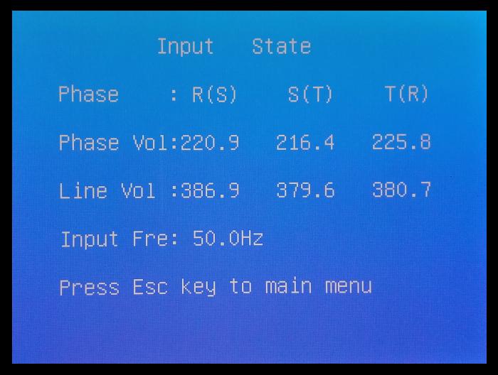 Input State LCD ИБП P-Com Multi-Pro F4033