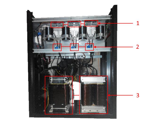 Вид слева внутри P-Com Multi-Pro F4033